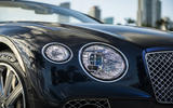 Bentley Continental GT Convertible 2019 UK first drive review - headlights