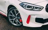 4 BMW 1 Series 128ti 2021 UK first drive review headlights