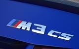 BMW M3 CS 2018 UK first drive review CS badge