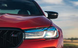 BMW M5 Competition 2020 UK first drive review - headlights