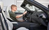 BMW Z4 prototype drive 2018 interior-Attwood