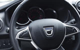 Dacia Sandero 2019 UK first drive review - steering wheel