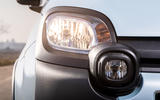 Fiat Panda Cross Hybrid 2020 first drive review - headlights