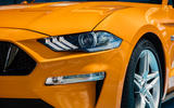 Ford Mustang GT 5.0 2018 UK review headlights