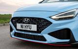 4 Hyundai i30N DCT 2021 UK FD nose