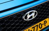 Hyundai Kona Hybrid 2019 first drive review - bonnet badge