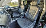 Isuzu D-Max Arctic Trucks 2020 UK first drive review - front seats