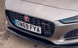 Jaguar F-Type 2020 UK first drive review - front grille