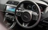 Jaguar XE 20t 2018 UK first drive review - steering wheel