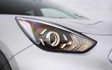 4 Kia e Niro 39kWh 2021 UK first drive review headlights