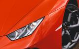 Lamborghini Huracán Spyder 2020 UK first drive review - headlights