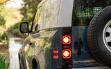 4 Land Rover Defender Hard Top Commercial 90 UK FD rear lights
