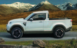 Land Rover Defender pick-up render 2017 - static side