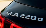Mercedes-Benz GLA 220d 2020 UK first drive review - rear badge