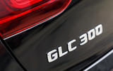 Mercedes-Benz GLC 300 2020 UK first drive review - rear badge