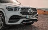 Mercedes-Benz GLE 400d 2019 UK first drive review - front bumper