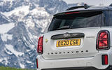 Mini Countryman Cooper S E All4 2020 first drive review - rear end