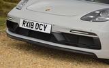 Porsche 718 Cayman GTS 2018 UK review front bumper