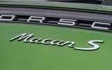 Porsche Macan S 2019 UK first drive review - rear badge