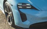 Porsche Taycan 4S 2020 UK first drive review - headlights