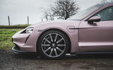 4 Porsche Taycan RWD 2021 UK first drive review alloy wheels