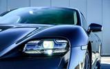 Porsche Taycan Turbo 2020 UK first drive review - headlights