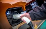 Renault Captur E-Tech PHEV RHD 2020 UK first drive review - charging port
