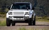 4 Rover Defender PHEV 2021 UK FD hero nose