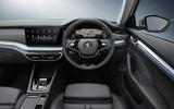 4 Skoda Octavia E Tec hybrid 2021 UK first drive review cabin