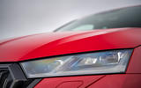Skoda Octavia vRS Estate 2020 UK first drive review - headlights