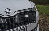 Skoda Superb IV 2020 UK first drive review - charging port