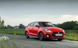 Suzuki Swift Sport hybrid 2020 UK first drive review - static front