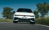 4 Volkswagen Golf GTI Clubsport 45 2021 UK FD hero nose
