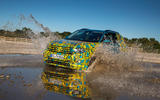 Volkswagen T-Cross prototype 2019 first drive review wading splash