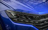 4 Volkswagen Touareg R eHybrid 2021 UK first drive review headlights