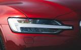 4 Volvo V60 B3 Momentum 2021 UK first drive review headlights