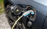 Volvo V90 Recharge T6 2020 UK first drive review - charging port