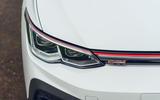 4 VW Golf GTI Clubsport 2021 UK first drive review headlights