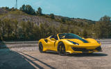 Ferrari 488 Pista Spider 2019 first drive review - static front