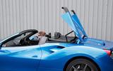 Ferrari 488 Spider roof opening
