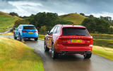 Audi leading Volvo from back
