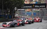 F1 pack cornering