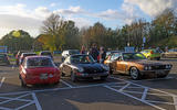 Restomods in car park