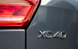 Volvo XC40 Recharge T5 plug-in hybrid 2020 UK first drive review - rear badge