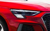 Audi A3 TFSIe 2020 UK first drive review - headlights