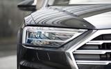 Audi A8 60 TFSIe 2020 UK first drive review - headlights