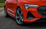 Audi E-tron S Sportback 2020 first drive review - headlights