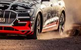 Audi e-Tron 2019 prototype first drive review - wheels dust