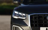 Audi Q2 35 TFSI Sport 2020 UK first drive review - headlights