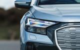 5 Audi Q4 etron 2021 UK FD headlights